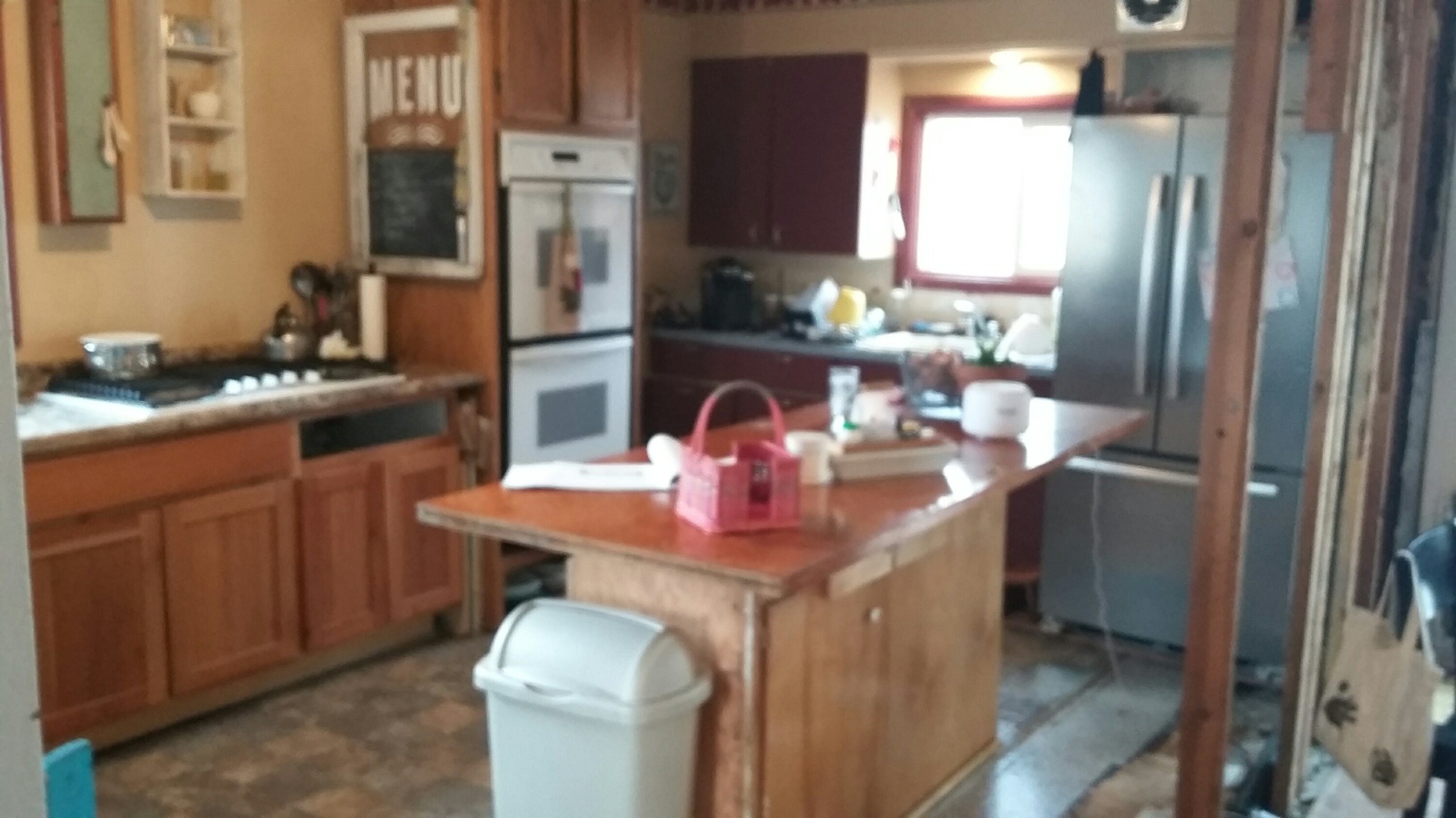 of cover countertop have reno completely tag life moved my bye basement kitchen temporary mid range hoods we our week out